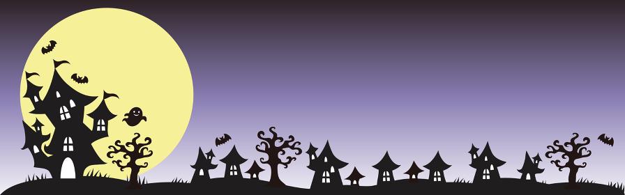 ハロウィンのバナー背景イラスト