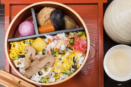 松茸と蟹の寿司