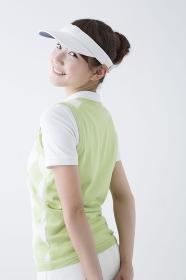 ゴルフスタイルの女性