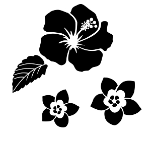 南国植物の花 アイコンセット