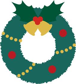 【クリスマスベクターイラスト素材】クリスマスリースのイラスト