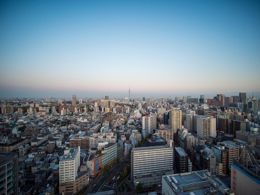 夕暮れの東京 文京シビックセンターからの夕景