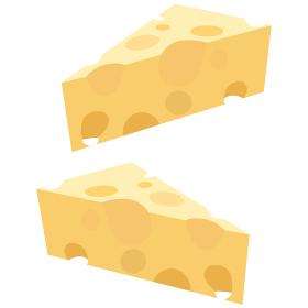 穴あきチーズのベクターイラスト素材