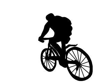 楽しいサイクリングのシルエット