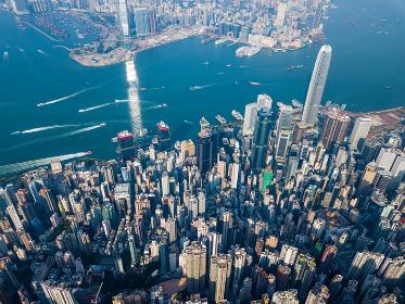 Victoria Peak, Hong Kong 3 November 2017:- Hong Kong landscape