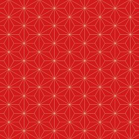 麻の葉模様 赤×黄 5