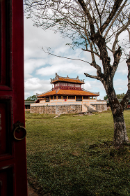 Temple of 19th century in the Imperial City of Hue, Vietnam (UNESCO)