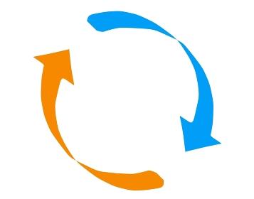 絞りのあるシンプルなループの矢印