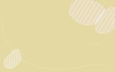 シンプルな線と図形のアブストラクト素材、コーヒー豆のイメージ