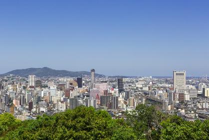 初夏の足立公園からの北九州市街地眺望 北九州市小倉北区