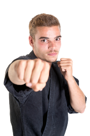 Martial arts student