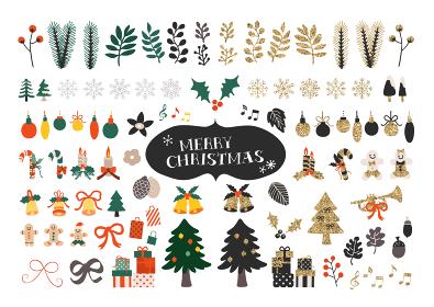 手描きのクリスマスイラストセット