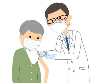 ワクチン接種を受ける高齢者