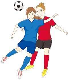 サッカーをする女性07