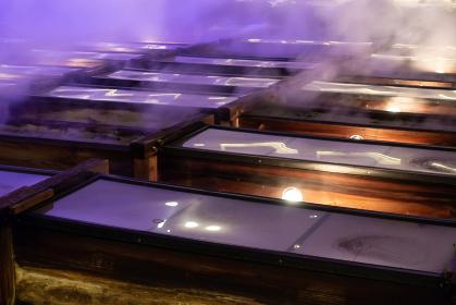 草津温泉 湯畑 夜のライトアップ