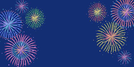 花火のフレームのベクターイラスト背景(風景、コピースペース)