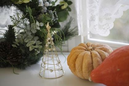 かぼちゃとクリスマスリース