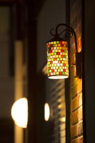 カラフルな外灯照明器具