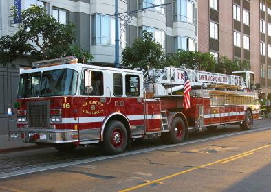 サンフランシスコの消防はしご車