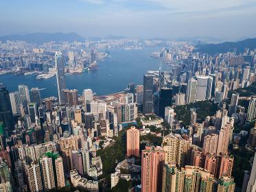 Victoria Peak, Hong Kong 3 November 2017:- Hong Kong skyline