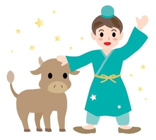 七夕祭りの彦星のイラスト