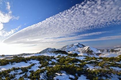 初冬の北アルプス・大日岳