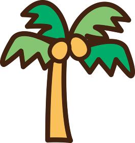 世界イラストマップ ヤシの木 椰子の木