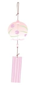 ピンクの風鈴のイラスト