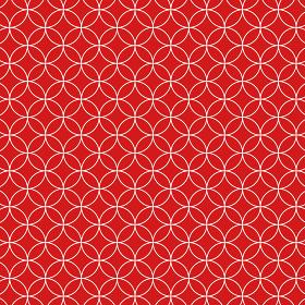 花七宝模様 赤×赤×白