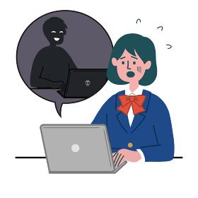 女の子 学生服 ブレザー パソコン ハッキング