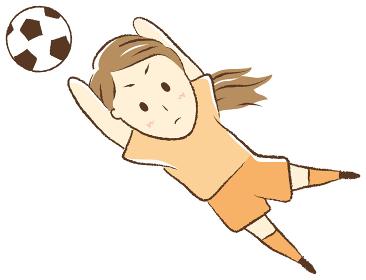 サッカーをする女の子 ゴールキーパー