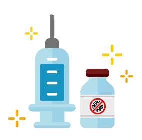 ワクチン・治療薬 ベクターカラーアイコン (新型コロナウイルス/COVID-19)