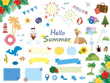 かわいい夏のイラスト素材