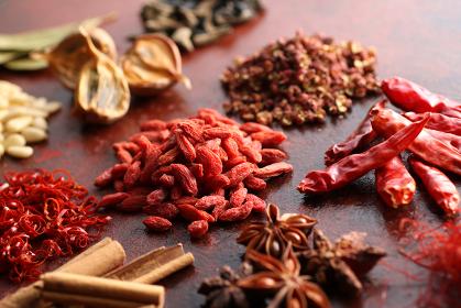 中華スパイスと香辛料と中華素材