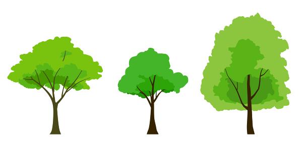 緑木のイラストセット