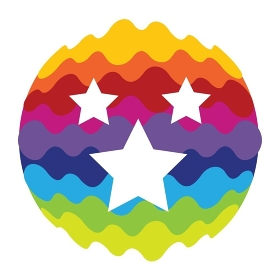 Favourites Rainbow Color Icon for Mobile Applications and Web Vector Illustration EPS10. Favourites Rainbow Color Icon for Mobile Applications and Web Ve