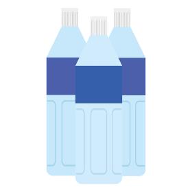 複数のペットボトルのイラスト