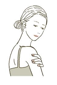 ビューティー スキンケアする女性のイラストレーション