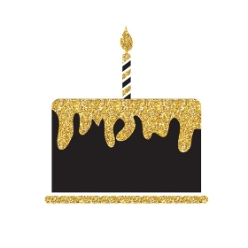 Birthday Cake Flat Web Icon Vector Illustration EPS10. Birthday Cake Flat Web Icon Vector Illustration
