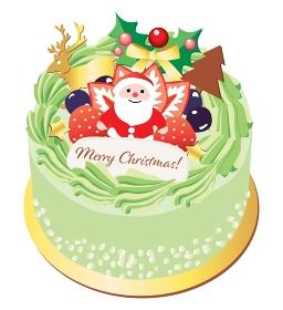クリスマスケーキ抹茶クリーム