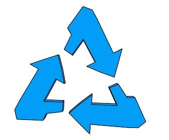 青いリサイクルマーク「黒淵あり」