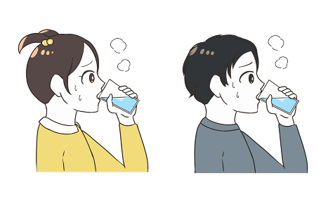 水分補給をする 子供