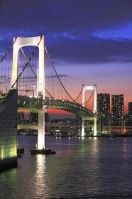 東京港日没空パノラマ