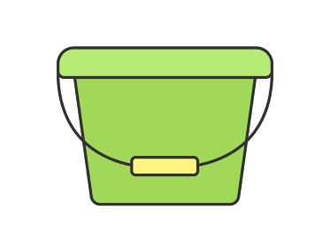 プラスチック製のバケツのイラスト