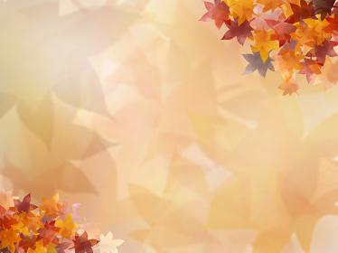 秋の紅葉 もみじ 背景付き(ヨコ)