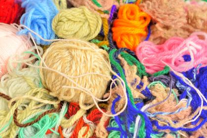 たくさんの毛糸
