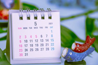 5月のカレンダーイメージ