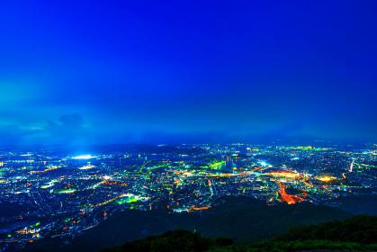 皿倉山展望台から望む新日本3大夜景(北九州市)