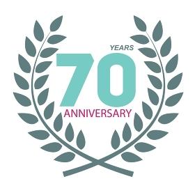 Template Logo 70 Anniversary in Laurel Wreath Vector Illustration EPS10. Template Logo 70 Anniversary in Laurel Wreath Vector Illustratio
