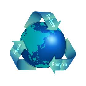 3R(recycle,reuse,reduce)・リサイクル・エコロジーイメージマーク (光沢あり)